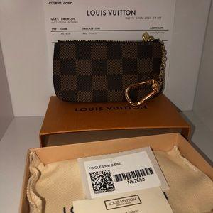 NEW Louis Vuitton Damier Ebene Key Pouch